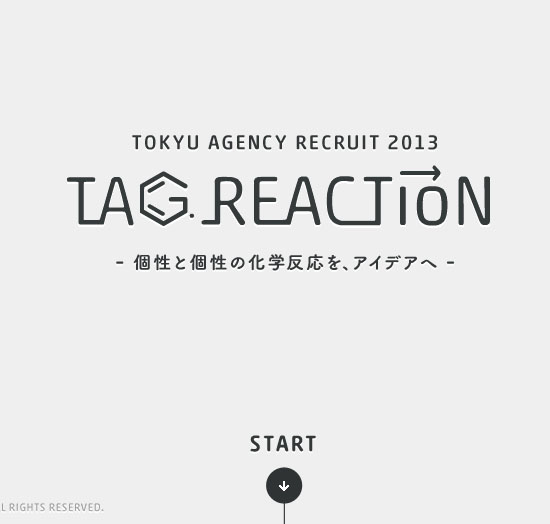 Tokyu Agency Recruit 2013 - Tag Reaction