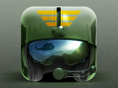 Pilot Helmet Icon