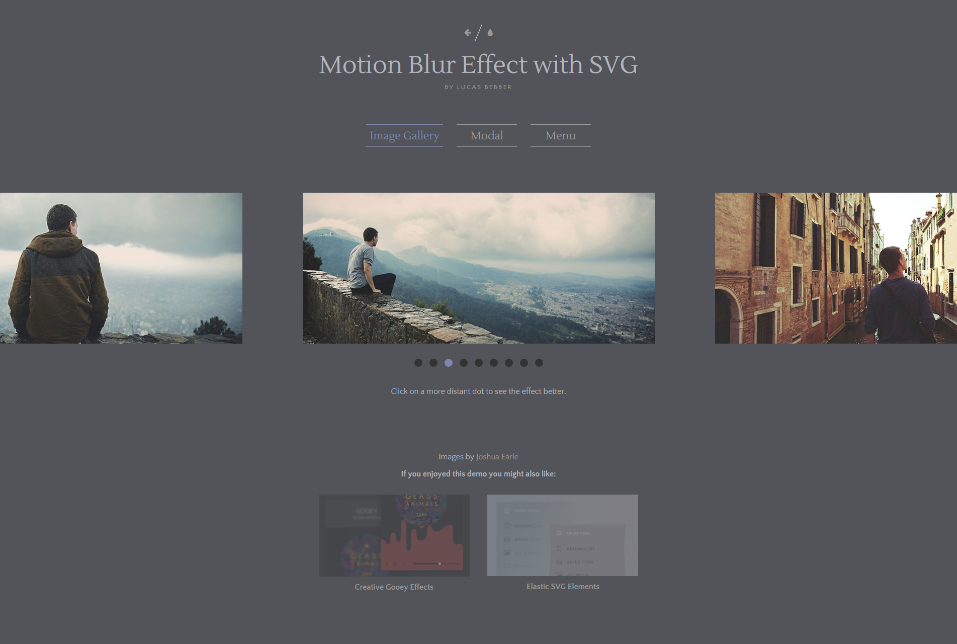 Motion Blur Effect with SVG   Image Gallery