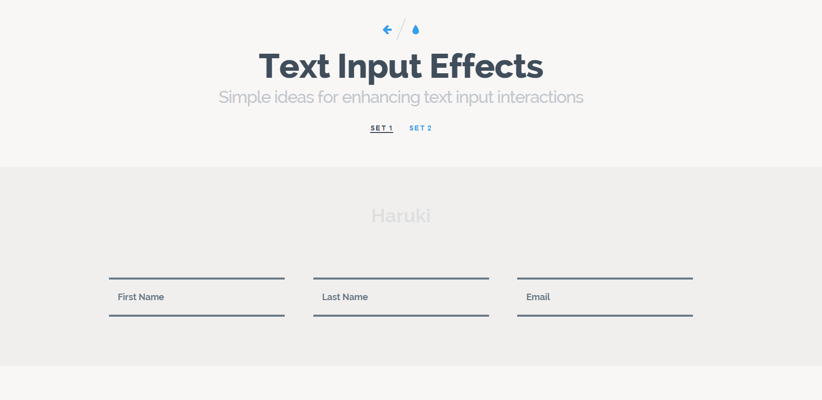 Text Input Effects   Set 1